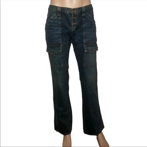 Joie SO REAL Cargo Retro denim bootcut Jeans 32